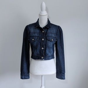 Charlotte Russe Blue Cropped Jean Jacket